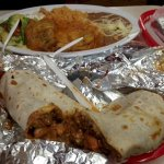 the Boss burrito and the Chile relleno plate