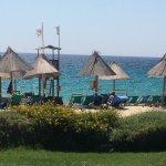 Spiaggia, i deliziosi piatti del ristorante à la catte , il mare visto dalla piscina e i bungalo