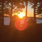 Lake Ontario Park at sunset