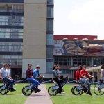 The bicycle tour at C.U.