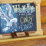 Our Welcome Sign at the front door