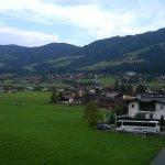 Blick vom Balkon auf Kirchberg