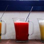 sucos feitos na hora de servir