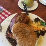 Pork knuckle and schnitzel
