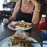 Steak breakfast for me, the Classic for Sharon