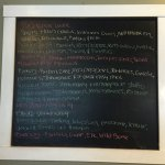 Chalkboard daily specials