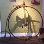 One of the high wheel bicycles in the exhibit. The exbihit is through October.