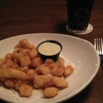Deep fried cheese curds...locally famous but not sure its the healthiest of menu options!!