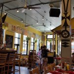 Indoor and outdoor seating and a great atmosphere