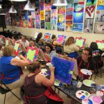 Teachers painting session