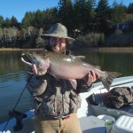 My son, Lane, with a big Siltcoos Coho