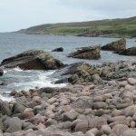 Rocky beach below Spindrift