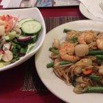 seafood salad and phuket noodle