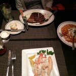 King Crab was shelled at the table, Bone-in Ribeye was tremendous and get the signature hash bro