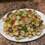 Shrimp and Mushrooms