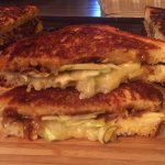 Grilled Brie, Gouda, cheddar, green apple, caramelized onions & drizzled honey