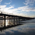Coffs Harbour Jetty, morning walk; sunrise.