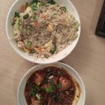 Chicken Fried Rice and Chicken Manchurian for dinner