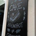 The Blackboard outside the cafe