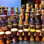 drums on display