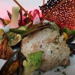 Blanquette de homard breton et l autre plat noix de veau et sa jardinière de légumes croquants