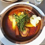Tajine with chicken and vegetables