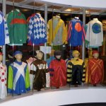 Display of jockey silks - over 25,000 registered colorful patterns