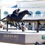A spectacular sculpture to honor an amazing thoroughbred with a tragic ending