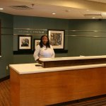 Front desk with Danielle