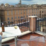 view from terrace to navona square
