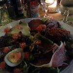 Assiette Corse avec aubergine à la Bonifacienne