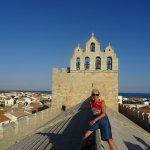 sur le toit de l'Eglise Notre Dame de la Mer , superbe vue