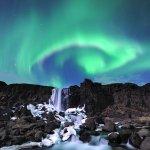 Northern lights in Þingvellir National Park