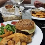 Huge burger, great fries!
