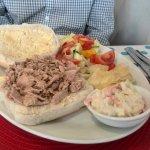Open Tuna Salad Barm and Coleslaw
