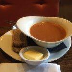 Tomato white bean soup of the day