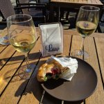 Delicious focaccia and lovely local wine