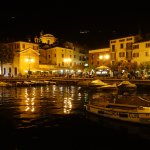 Malcesine harbour at night