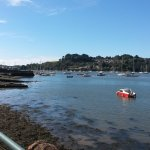View right across the Tamar to Cornwall from outside the Royal Albert Inn.