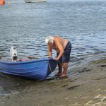 One of our local boatmen doing his own thing in the sunshine.