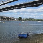 View of Cornwall and anchorages from under the Royal Albert Bridge.