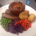 Roast beef and Yorkshire puds! Amazing!