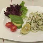 Warm calamari and potato salad
