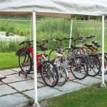 bicycles available for guests at Misty Isles