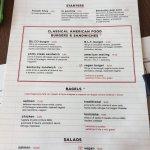 Il listino del burger bar