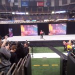 Superbowl employee orientation at the Superdome