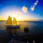 I snapped this pic from my GoPro of our last sunset/night in Key West from our room.