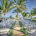 Ceremony setting in wedding garden