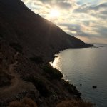 E4 hiking path to the next beach