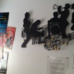 Wall decorations in the jazz room.